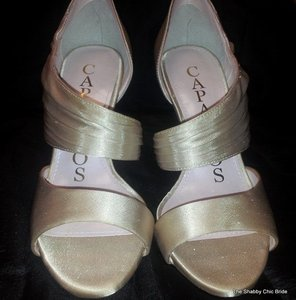 Caparros Caparros Xing Asymmetrical Satin Pump Wedding Shoes