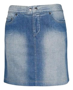 Gianfranco Ferre Armani Jeans Denim Mini Skirt Blue