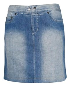 Gianfranco Ferre Armani Jeans Armani Denim Mini Jean Pencil Mini Skirt Blue