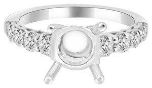 Avi and Co 1.55 cttw Round Diamond Designer Engagement Semi-Mounting 18K White Gold