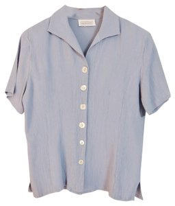 Impressions Shell Buttons Top Baby blue