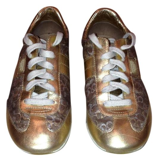 Coach Sneakers Gold Athletic