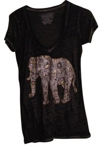 fifth sun Elephant Graphic Graphic T Graphic Graphic Gold India Tribal Elephant Tribal T Shirt gray
