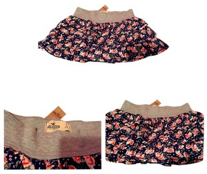 Hollister Skirt Navy Floral