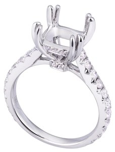 Avi and Co 0.80 cttw Round Brilliant Diamond Pave Engagement Semi-Mounting 18K White Gold