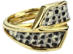 Kara Ross Kara Ross 14kt Gold, Lizard Skin Ring, Original Box + Dust Bag