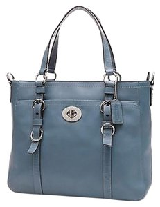 Coach Leather Tote in Teal