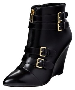 Renvy Leather Spazzolato Black/gold Boots