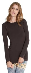 Nikibiki Long Sleeve Crew Crew Neck Shirt Nylon Spandex Winter Tunic