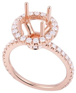 Avi and Co 0.85 cttw Round Brilliant Diamond Halo Engagement Semi-Mounting 14K Rose Gold