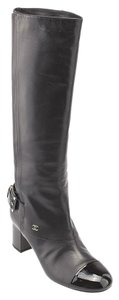 Chanel Leather Knee-high Black Boots