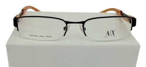 A|X Armani Exchange Armani Exchange AX127 Col 0JGH Black/Orange Metal Eyeglasses 53mm 18mm 140mm