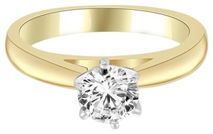 Avi and Co 0.86 ct Round Brilliant Cut Solitaire Diamond Engagement Ring 14k Yellow Gold