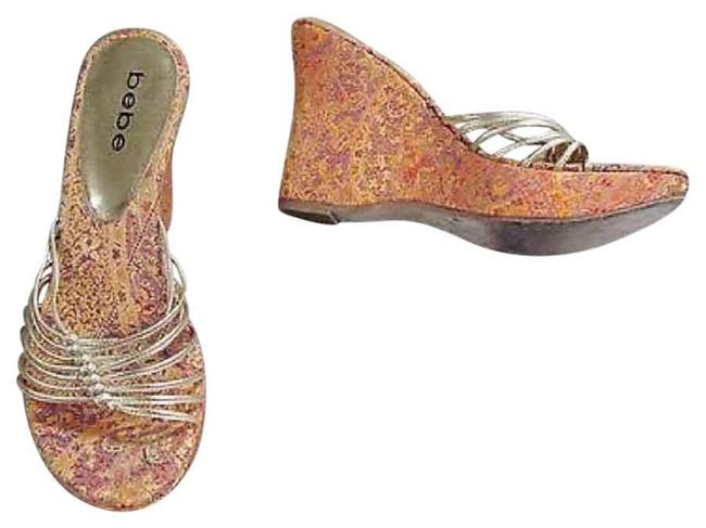 bebe Orange Gold Casual Wedges Size US 7 Regular (M, B) bebe Orange Gold Casual Wedges Size US 7 Regular (M, B) Image 1