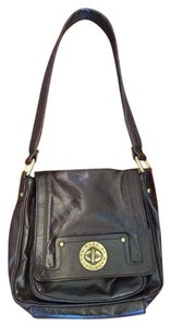 Marc by Marc Jacobs Turn Lock Leather Shoulder Bag