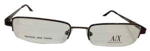 A|X Armani Exchange Armani Exchange AX101 Col 0Q4G Brown Metal Eyeglasses Frame 51mm 17mm 135mm