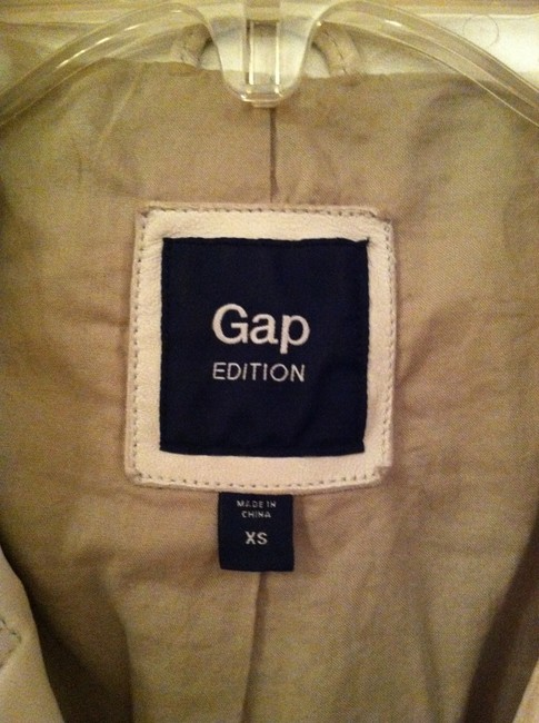 Gap Edition Leather Cropped Motorcycle Jacket