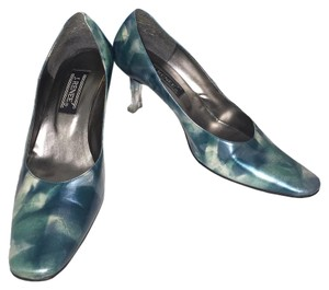 J. Renee Wide Heels Combo Easy Slip On Green Pumps