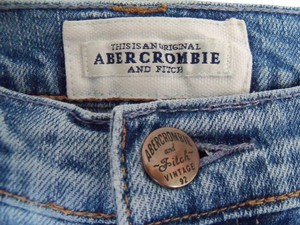 Abercrombie & Fitch Straight Leg Jeans-Distressed