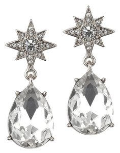 Mariell Celestial Stars Bridal Or Prom Earrings With Bold Teardrops 4347e-s