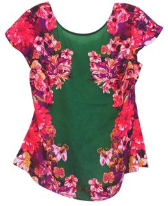Ann Taylor Top Green with purpul