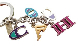 Coach Coach Letters Multi Charms Mix Keychain