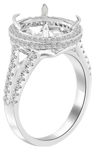 Avi and Co 1.25 cttw Round Cut Diamond Halo Engagement Semi-Mounting 18K White Gold