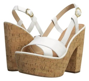Diane von Furstenberg Dvf Raleigh Wedge white Sandals