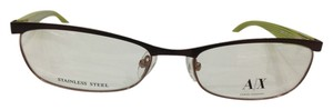A|X Armani Exchange Armani Exchange AX228 Col YPJ Brown W/Green Metal Eyeglasses Frame 53mm 17mm 135mm
