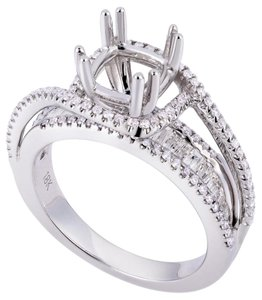 Avi and Co 0.76 cttw Round & Baguette Diamond Spiral Engagement Mounting 18K White Gold