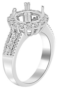 Avi and Co 1.05 cttw Round Brilliant Diamond Halo Engagement Semi-Mounting 18K White Gold