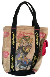 Ed Hardy Tote in Tan