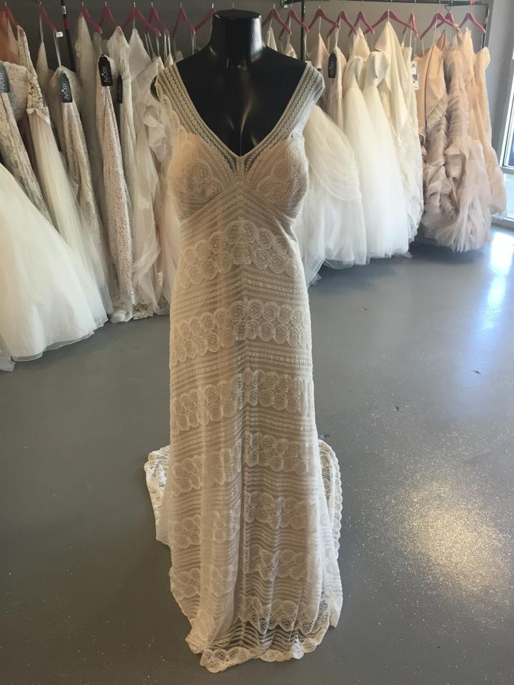 Wtoo Ivory Lace Pallas By Casual Wedding Dress Size 24 (Plus 2x ...