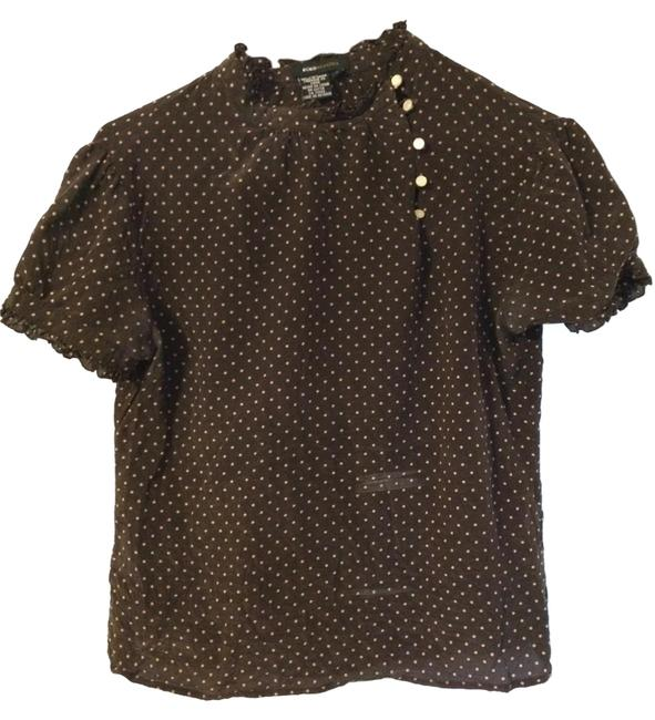 Preload https://item2.tradesy.com/images/bcbg-max-azria-top-brown-with-beige-polka-dots-1513886-0-0.jpg?width=400&height=650