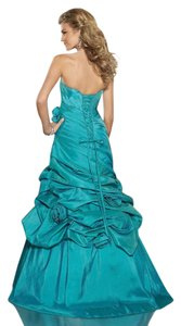 Paparazzi Mori Lee 8766 Blue Taffeta Dress