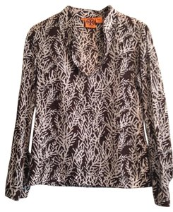 Tory Burch Sequin Copper Chic Boho Brown Tunic