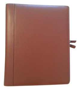 Levenger Levenger Tan Leather 3 Ring Notebook Folio Briefcase