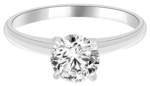 Avi and Co 1.12 ct H-I/SI Round Diamond Solitaire Engagement Ring 14k White Gold