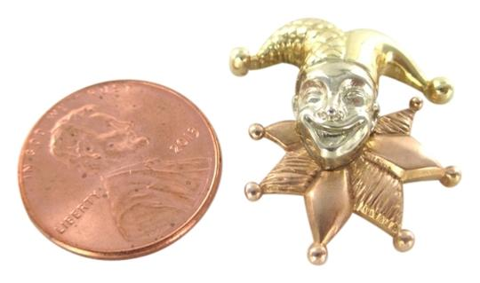 Other this Solid 14kt Yellow White Rose Gold Jester Pendant