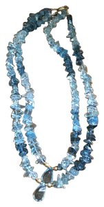 Lexox Jeweler Custom Made Multi colored blue quartz s , different shapes , with 14KT beads and closure