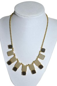 Kate Spade New KATE SPADE Branton Square BIB Necklace 18 Gold Tone BROWN SMOKE