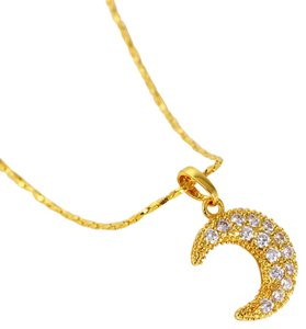 losangelesbeads 24K Gold Filled Pendant with Clear Cubic Zirconia
