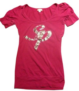 South Pole Collection Top Maroon gold