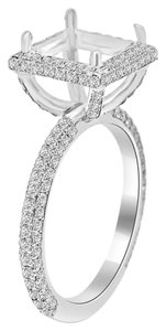 Avi and Co 1.00 cttw Round Diamond Micro-Pave Engagement Semi-Mounting 18K White Gold