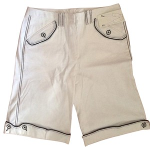 Larry Levine Bermuda Shorts White