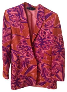 Andrea Jovine Silk Floral Vintage Pink, Orange, Purple Blazer