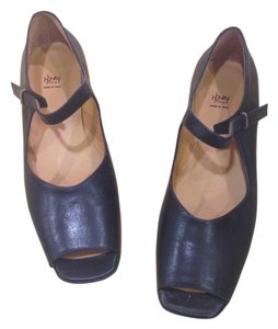 Henry Cuir black leather Flats