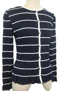 St. John Navy Wool Sweater Cardigan