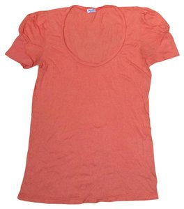 Splendid Cotton Soft Scoop Neck T Shirt Coral Orange