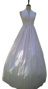 Lisa Nieves Pearl White Silk Taffeta Gown Dress Wedding Dress